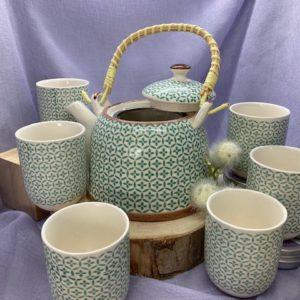 Teekännchenset grün