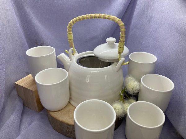 Teekännchenset weiß
